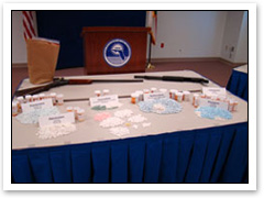 Drugs recovered in a pill mill sweep by FDLE
