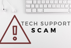 Tech support scams often begin with fraudulent pop-up ads falsely claiming a computer is infected with a virus or malware.